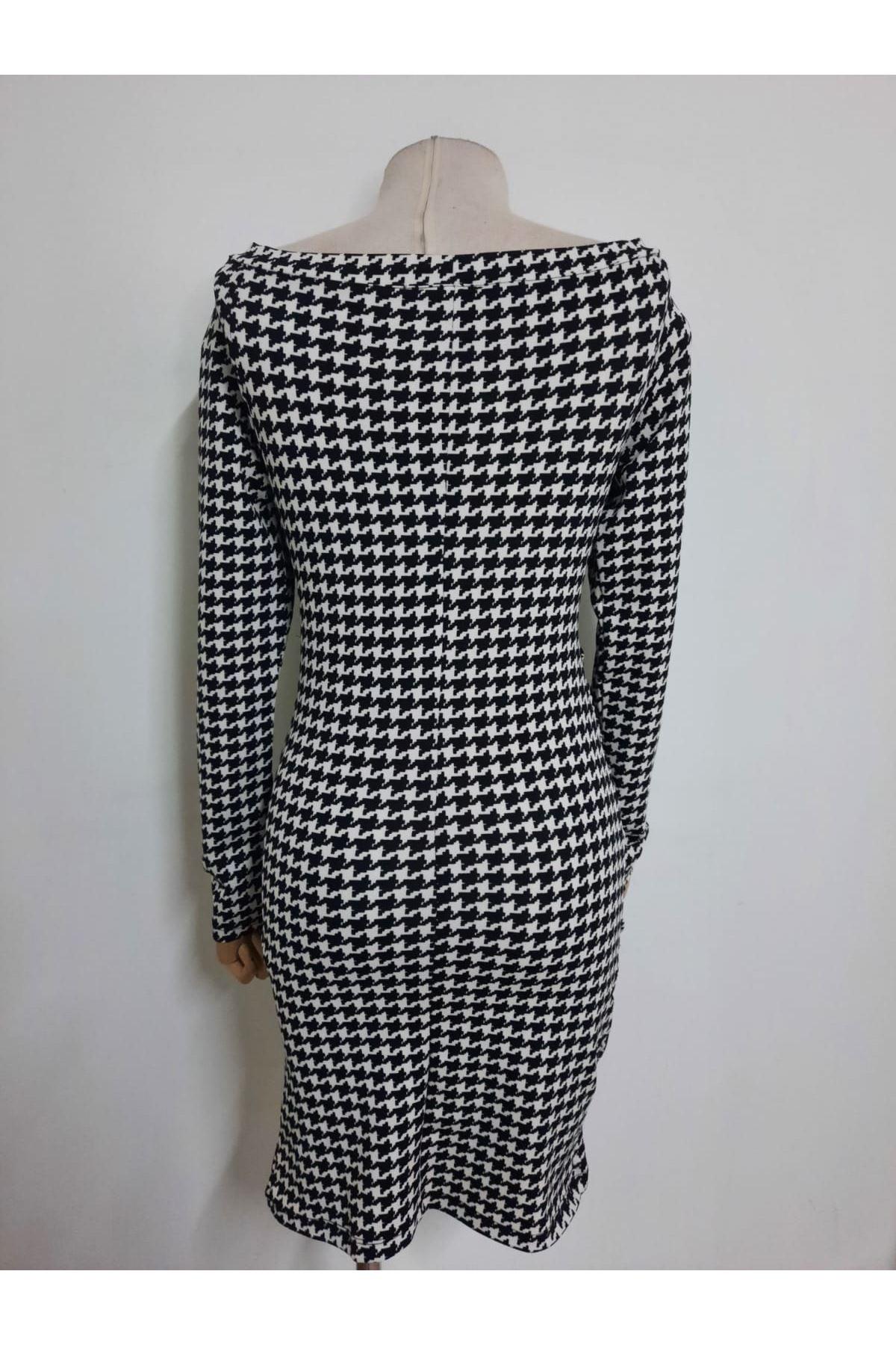 Kazayağı Desen Elbise - multi