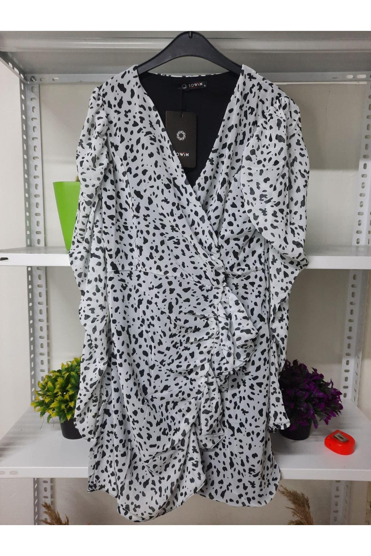ZR Model Şifon Elbise - multi