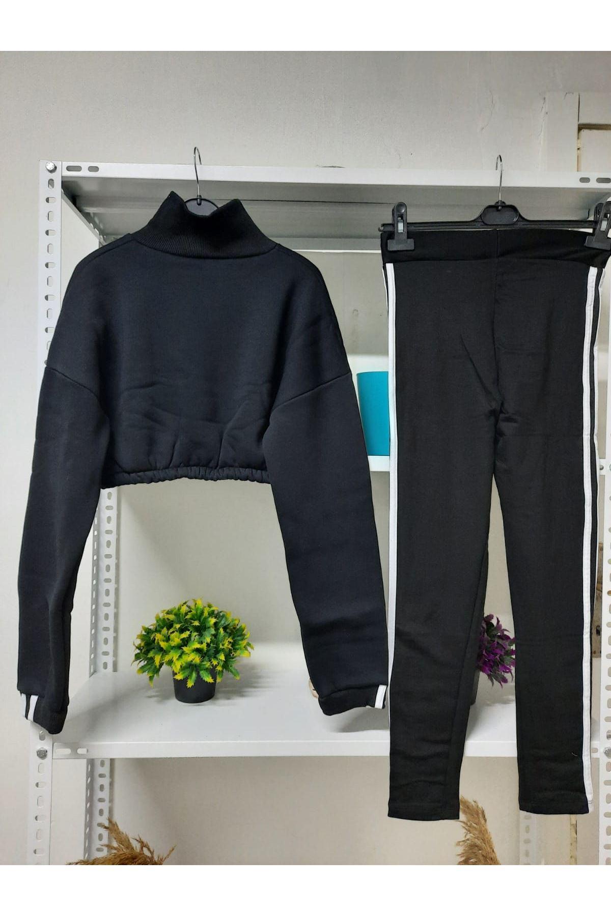 ADD Crop Sweat Takım - siyah