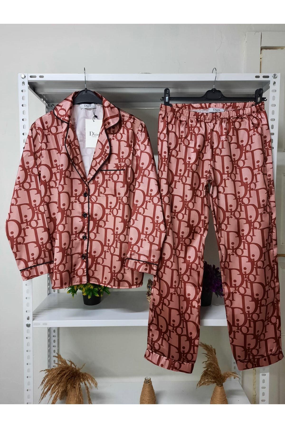 DR Desen Pijama Takım - pudra