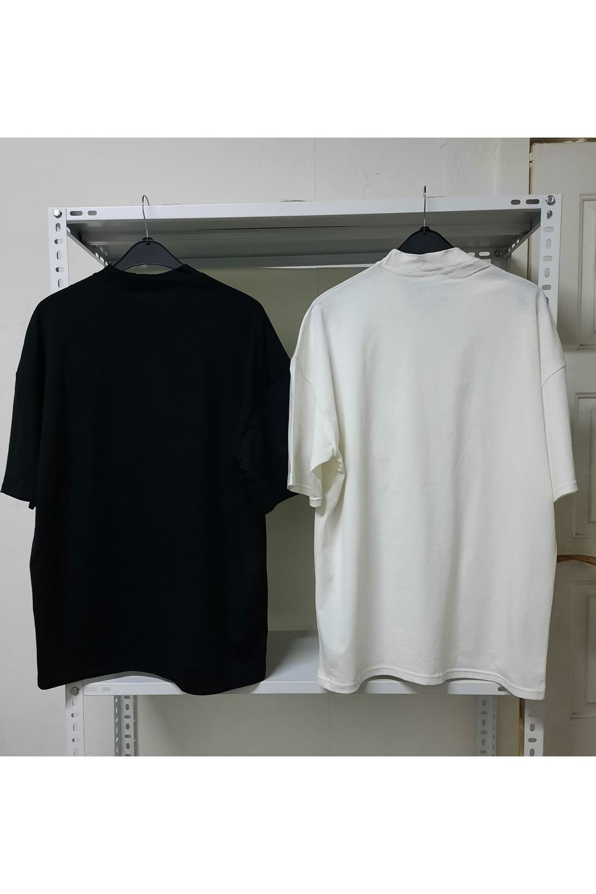 DR Baskılı Oversize T-shirt - Beyaz