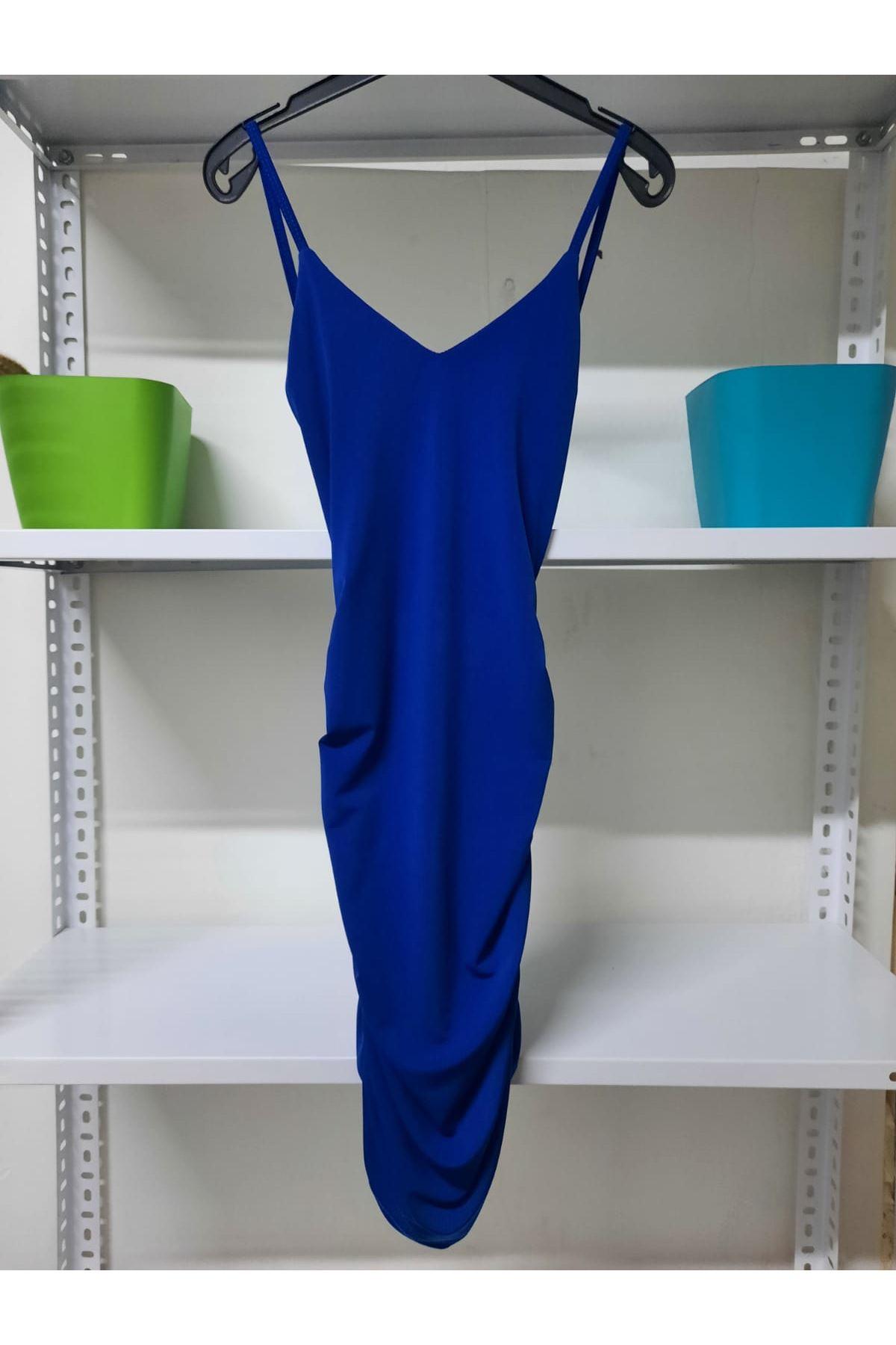 Halka Detaylı Mini Elbise - Sax