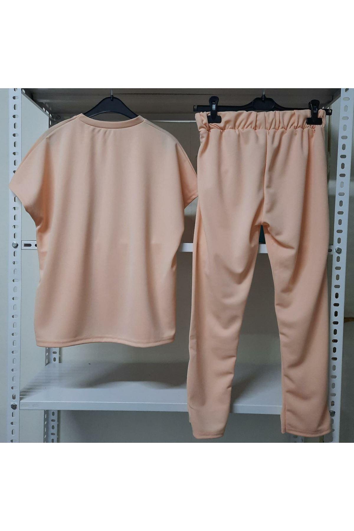 Bilek Pantolon İkili Takım - PUDRA