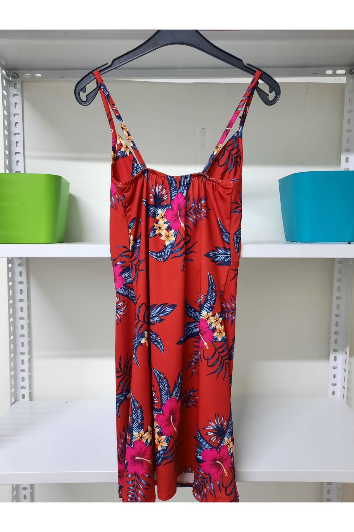 Çiçek Baskılı Mini Elbise - Multi
