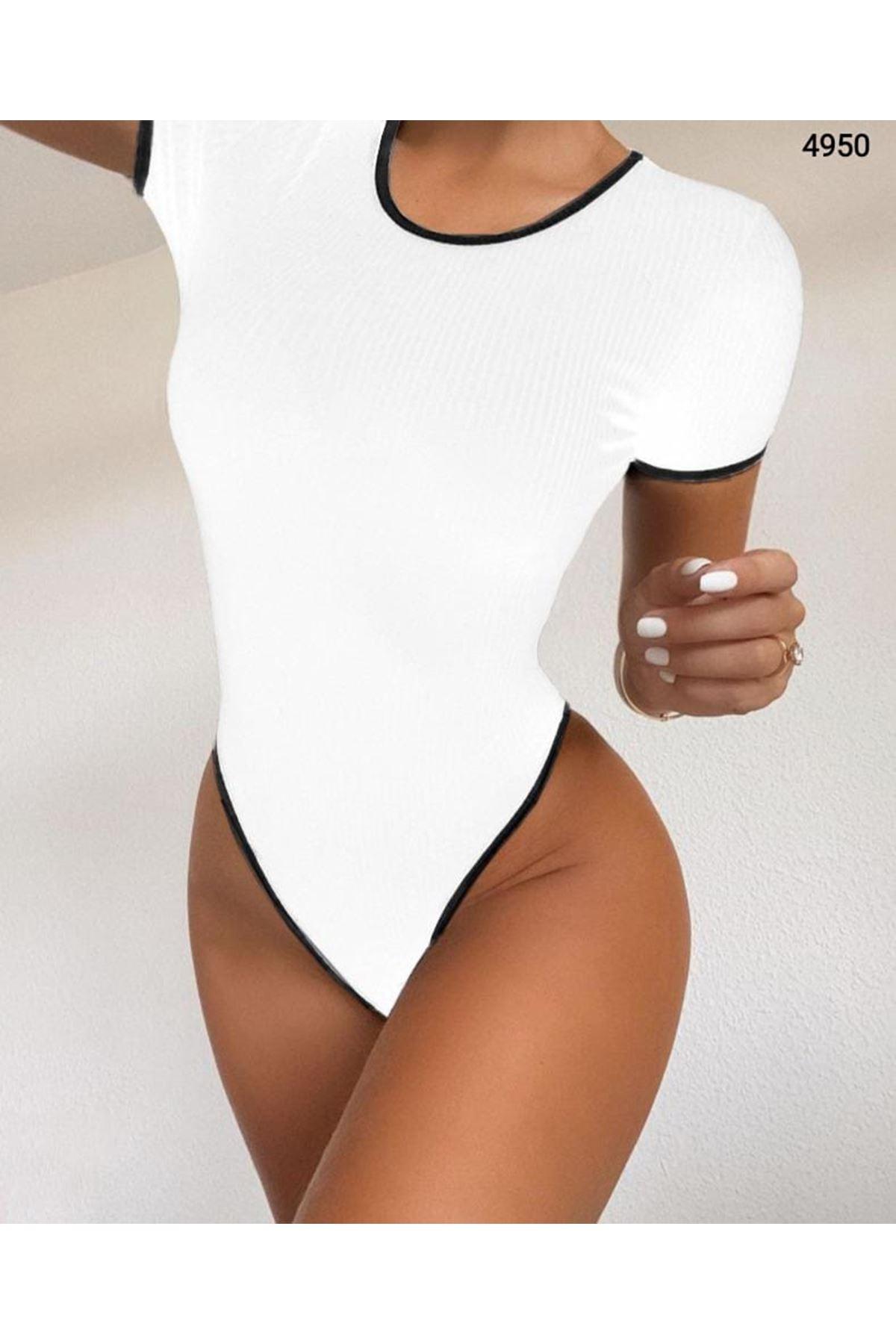 Kaşkorse Bodysuit - BEYAZ