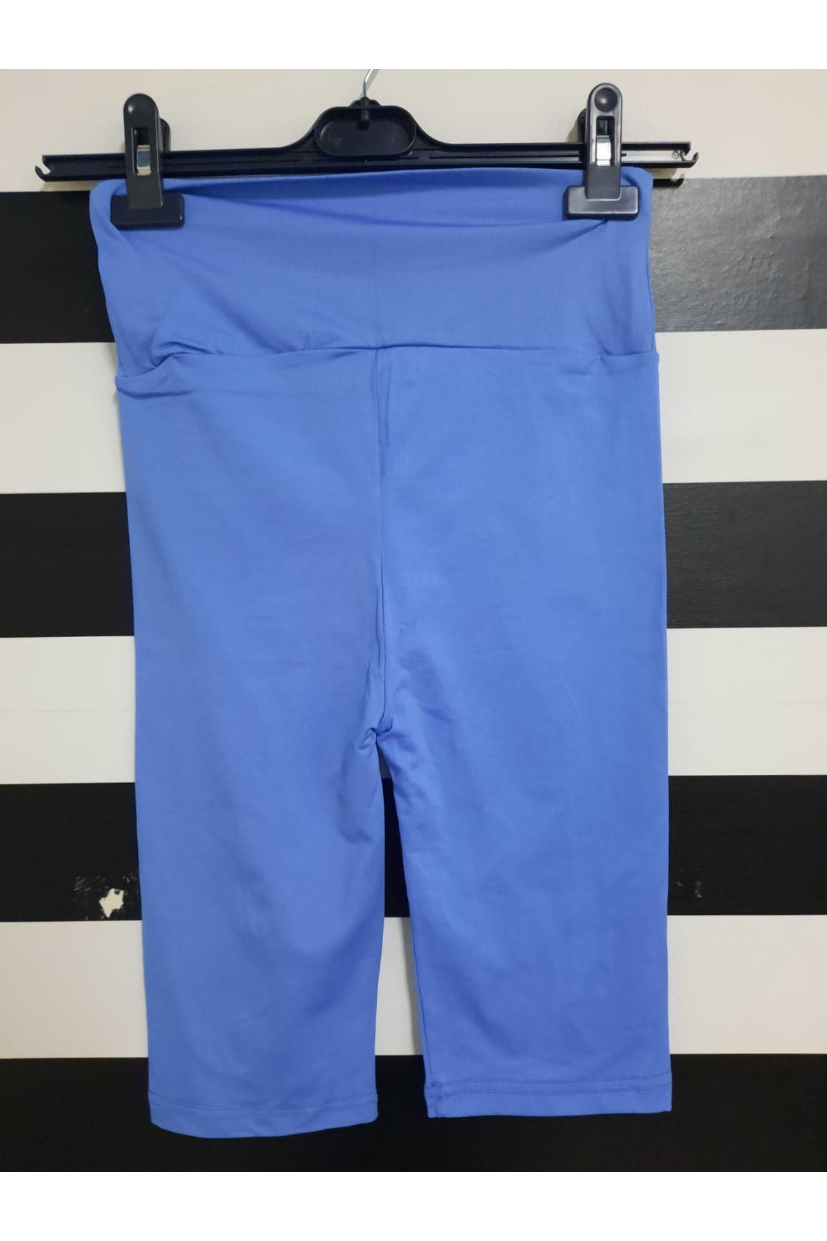 Kısa Spor Tayt - mavi