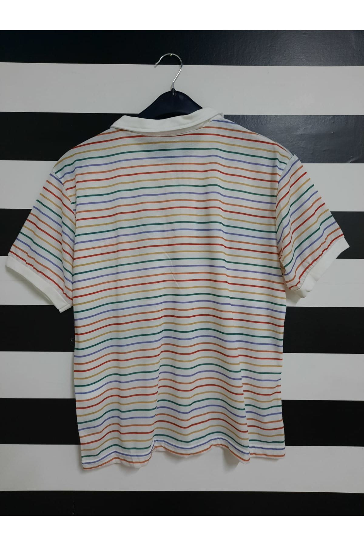 NK Çizgi Desen Tshirt - MULTİ