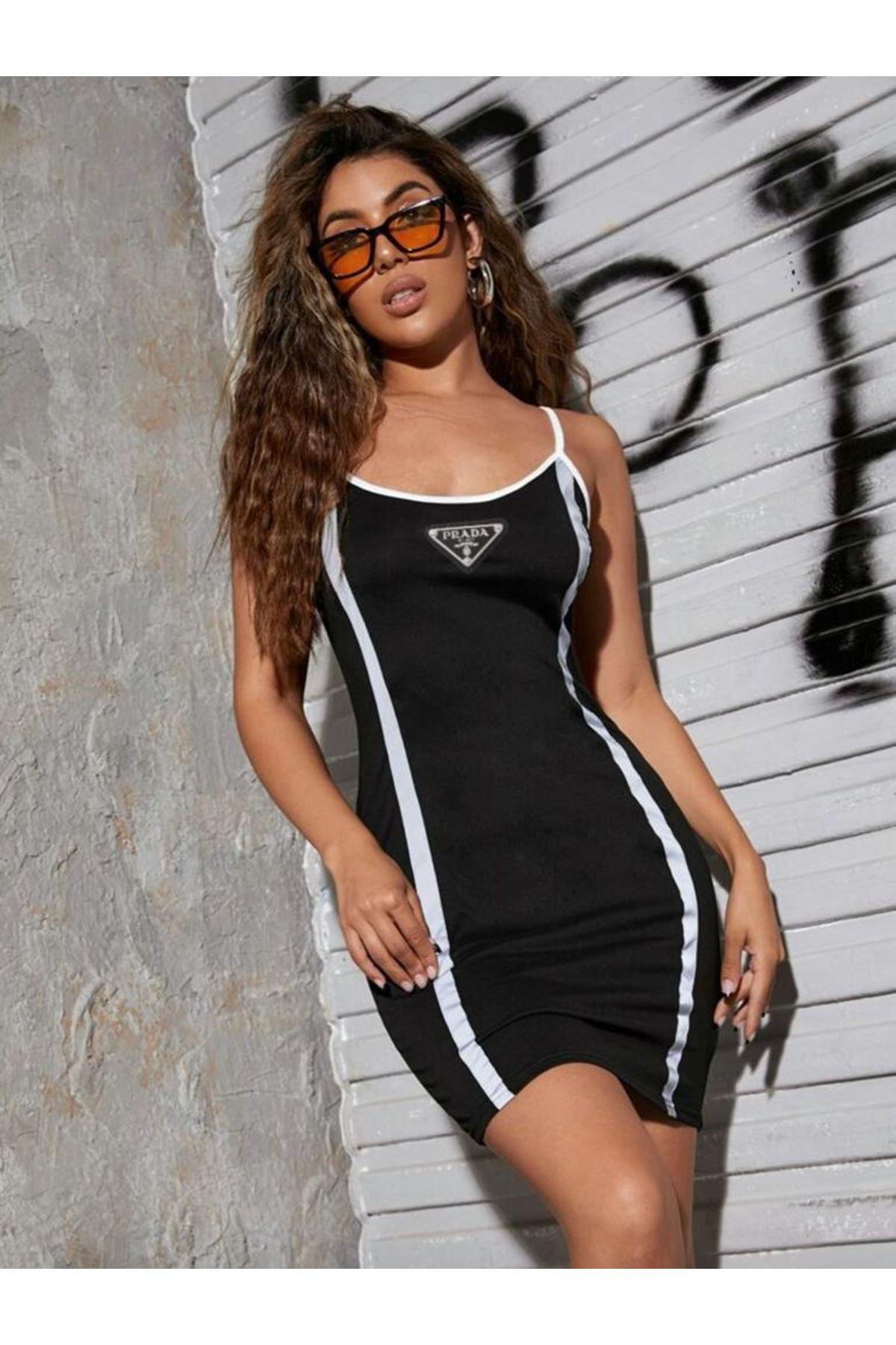 PRD Model Reflektör Detaylı Elbise - SİYAH