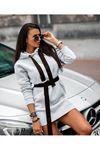 kuşaklı tunik elbise M15 GRİ