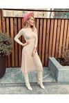 Etek pilise tasarım trıko elbise TAŞ